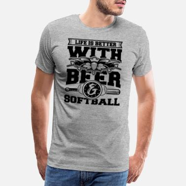 Softball Softball Player Coach Fan Funny Quotes - Premium T-skjorte for menn