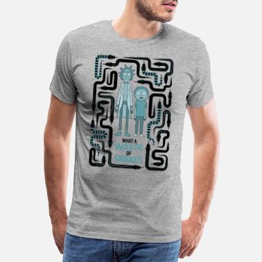 Rick And Morty Snake Labyrinth - Men's Premium T-Shirt