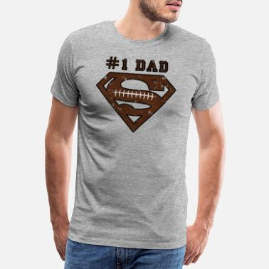 Superman Superman Super Dad Football - Premium T-shirt herr