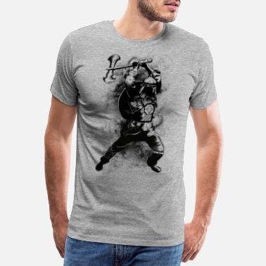 Blanc Viking Warrior - T-shirt premium Homme