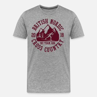Nordic Skiing British Nordic Ski Team - Men's Premium T-Shirt