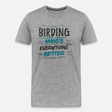 Spotter Bird Watching Bird Watching T Shirt Gift - Men's Premium T-Shirt