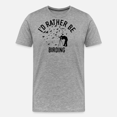 Watcher Birding Twitchen Bird Watcher Cool Fun Gift - Mannen Premium T-shirt
