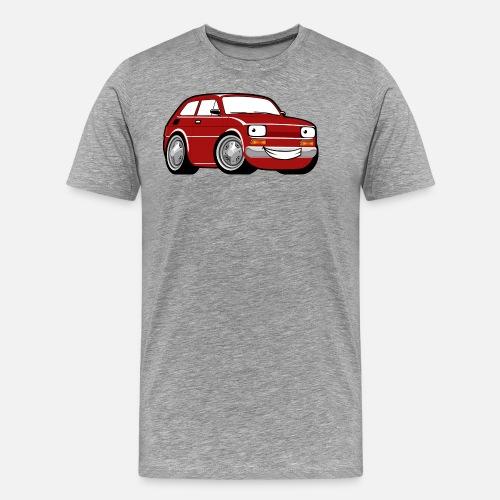 Red cartoon racing car toddler classic Men s Premium T-Shirt ... 0bc92134c