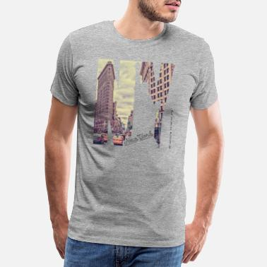Hudson New York City Flat Iron Lady Liberty USA - Männer Premium T-Shirt