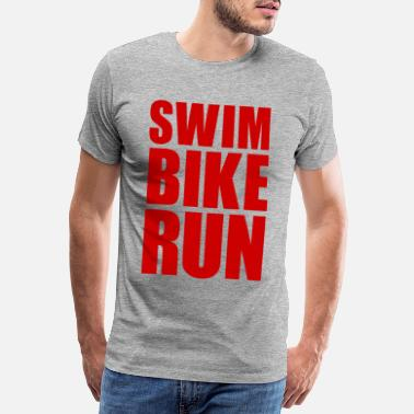 Pain SWIM BIKE RUN GIFT TRIATHLON TRIATHLETE ATHLETE - Men's Premium T-Shirt