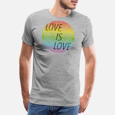 Kiss Me Love is love - Men's Premium T-Shirt