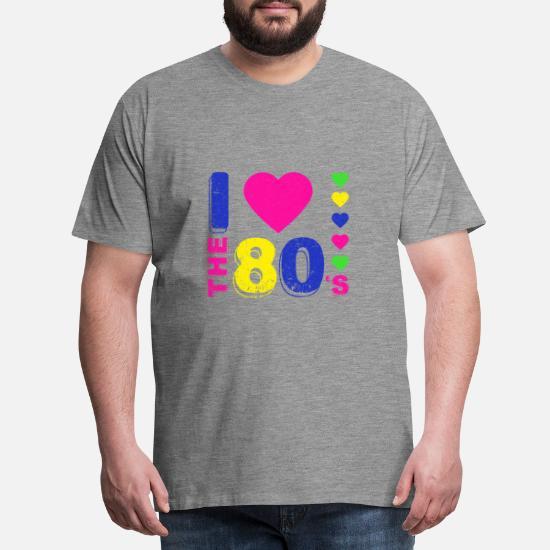 Disco.I love 80's. 80 tallet stil. 80 talls musikk Premium T