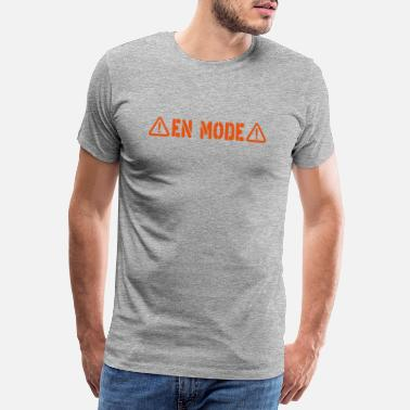 Metal Sign danger sign in mode - Men's Premium T-Shirt