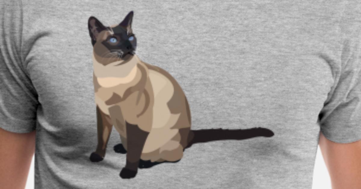 Gatto Siamese Maglietta Premium Uomo Spreadshirt