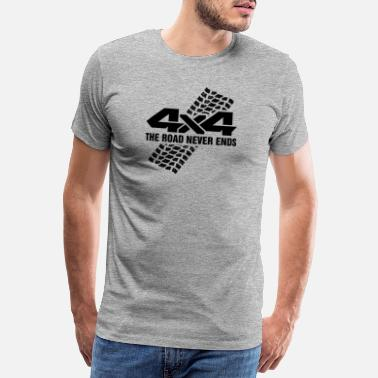Gadoue 4x4 The Road Never Ends I Vintage Retro Offroad - T-shirt premium Homme