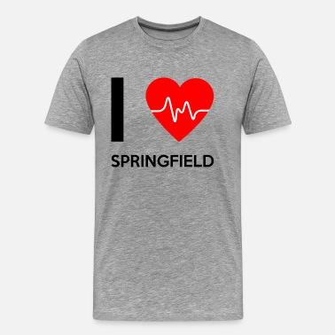 Springfield J'aime Springfield - I Love Springfield - T-shirt premium Homme