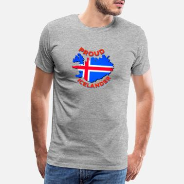 Shadow Proud To Be From Iceland - Men's Premium T-Shirt