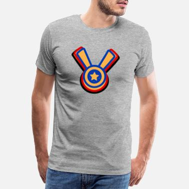 Multi Coloured Medals style - Men's Premium T-Shirt