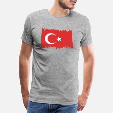 Patriotism Turkey National Flag - brush - Men's Premium T-Shirt