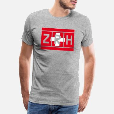 Ticket Switzerland - Zürich International Airport - Männer Premium T-Shirt