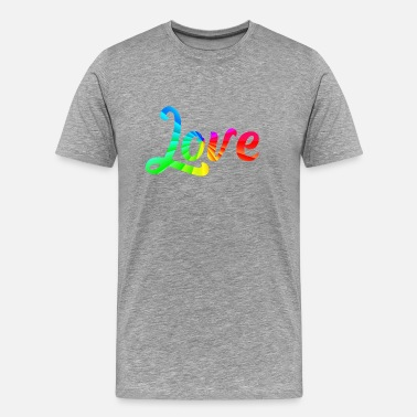 Hodetelefoner Love - Gay - LGBT - Gay - Lesbian - Transsexual - Men's Premium T-Shirt
