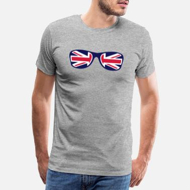 Union Jack sunglasses english flag union jack - Men's Premium T-Shirt