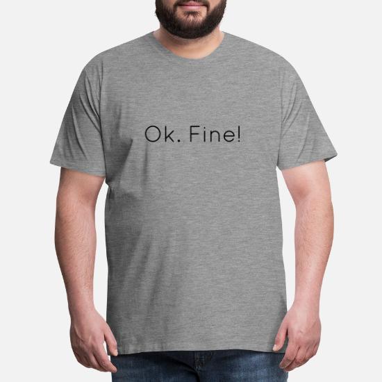 64dfe1de OK fint - Premium T-skjorte for menn. Foran. Foran