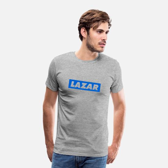 Ali T-Shirts - Lazarbeam Logo - Men's Premium T-Shirt heather grey