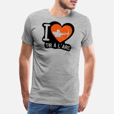 Bow Box love shooting bow heart - Men's Premium T-Shirt