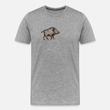 Hunting Wild Boar Boar Hunter Hunting Hunting Wild Game Gift - Men's Premium T-Shirt