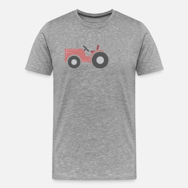 Helicopter Red tractor - Men's Premium T-Shirt