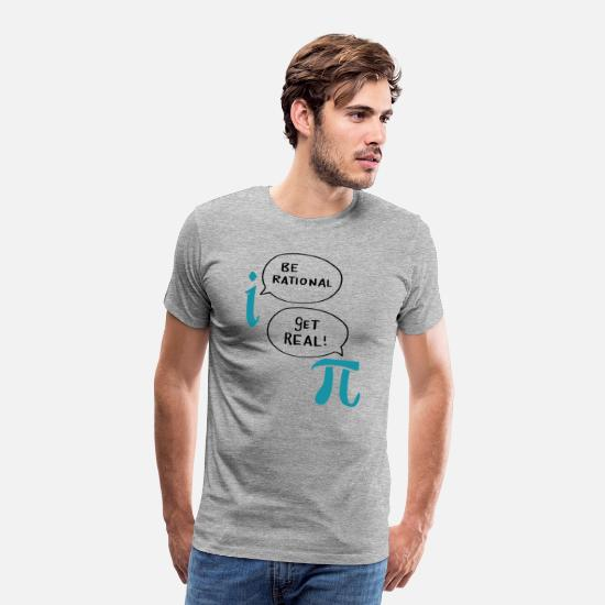 Matematikk T-skjorter - Great Beautiful Best Math Sayings Morsomme Gaver - Premium T-skjorte for menn gråmelert