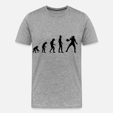Urmensch Evolution Basketball Handball - Männer Premium T-Shirt