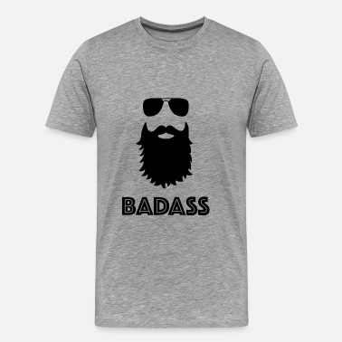 Like A Sir BADASS BART MOTIV - Premium T-skjorte for menn