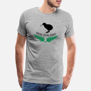 Nieuw New Zealand Design 9 - Mannen premium T-shirt