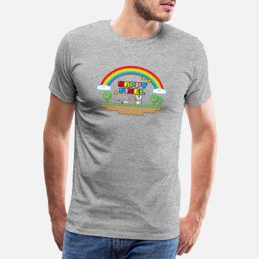 Pixel Happy Pixel (R-rated) - Männer Premium T-Shirt
