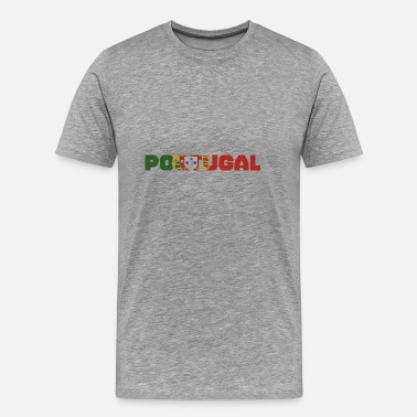 Writing Portugal flaggmönster bokstäver - Premium-T-shirt herr
