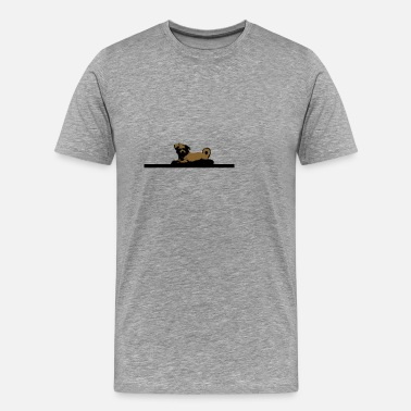 Couché Chien couché ... chien couché - T-shirt Premium Homme