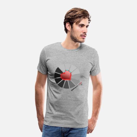 Love T-Shirts - withing for a love 2.png - Men's Premium T-Shirt heather grey