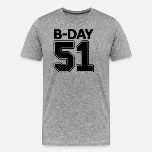 51 Jaar Universiteit Rugnummer Voor 51ste Verjaardag Mannen Premium
