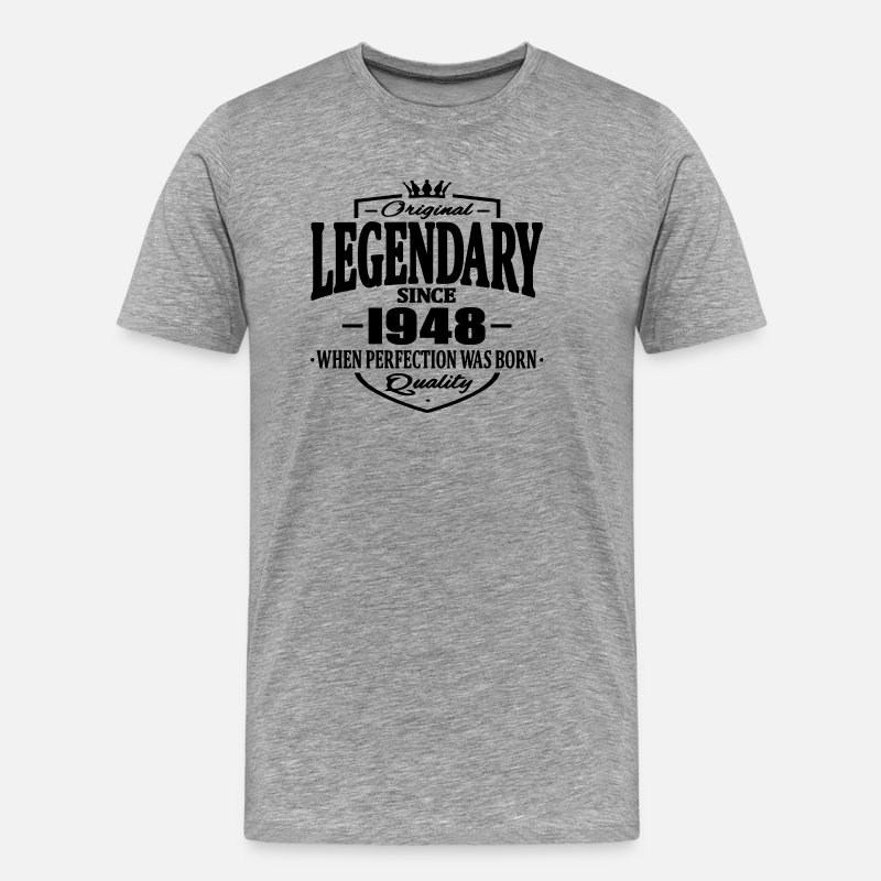 Established T-Shirts - Legendarisch sinds 1948 - Mannen premium T-shirt grijs gemêleerd