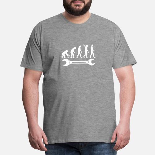 herramienta tensor mecánico Camiseta de la evolución Camiseta ... 18818de733d6d