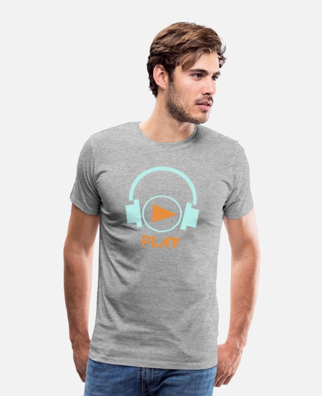 Play T-Shirts - Play - Men's Premium T-Shirt heather grey