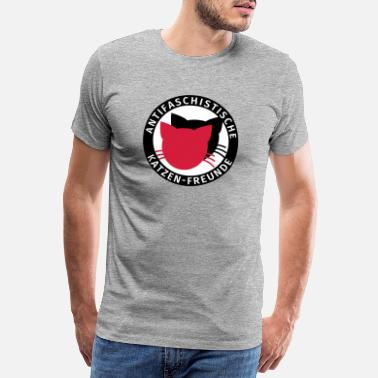 Antifa Antifa Logo Humor Antifascist Cats Friends - Maglietta premium uomo