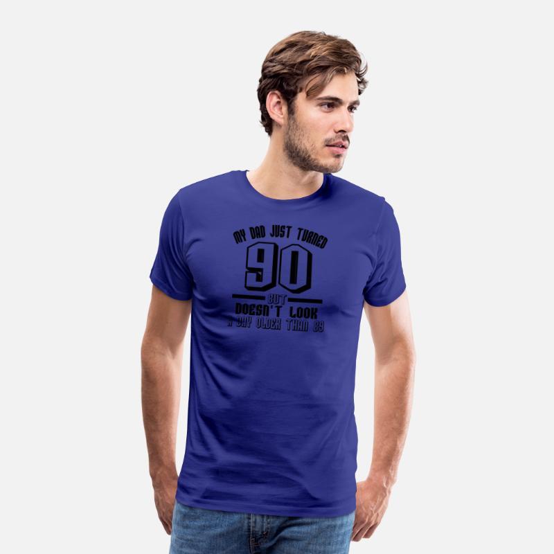 90 Years Birthday Gift Grandpa Father Ninety Old Mens Premium T Shirt