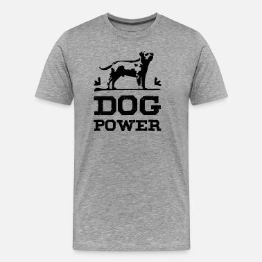 Negra Dog Power negro - Camiseta premium hombre