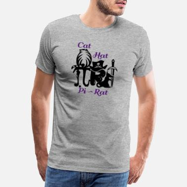 Alice In Wonderland Pi rat (2c) - Men's Premium T-Shirt