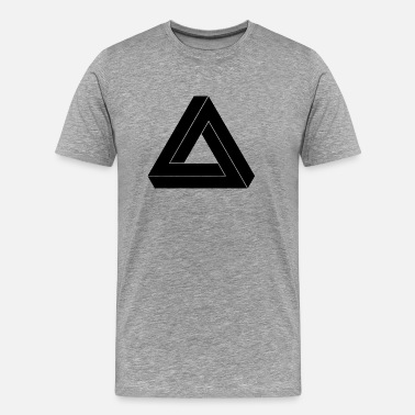 Hipster Triangle Impossible Triangle Black - Männer Premium T-Shirt