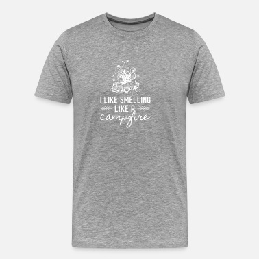 To Camp I Like Smelling Like a Campfire for Campers, - Men's Premium T-Shirt