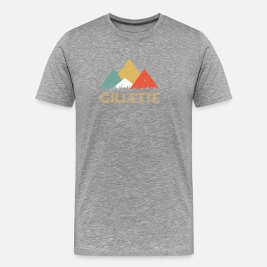 Stad Retro stad van Gillette Mountain Shirt - Mannen Premium T-shirt