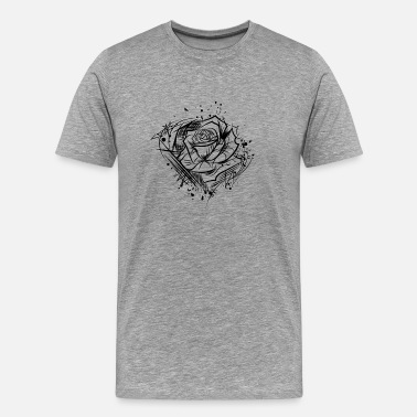 Estetisk Rose - Ritning Nature Cool Tattoo Idea - Premium-T-shirt herr
