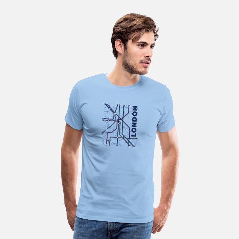 De Premium Shirt Métro Londres Ciel T Homme HWE29ID