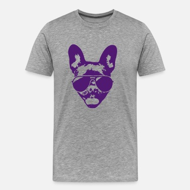 French bulldog with sunglasses - Men's Premium T-Shirt