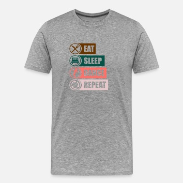 Ball eat sleep dance Tanzen sportpng - Männer Premium T-Shirt